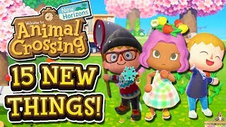 Animal Crossing New Horizons - 15 NEW THINGS YOU NEED TO KNOW!