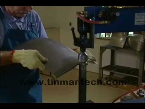 Flattening out a bent edge - TM Power Hammer / Planishing Hammer