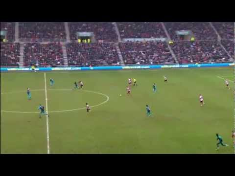 Arsenal 2-1 Sunderland 11 02 2012. King Henry Scores The Winner !!! video