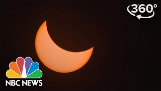 Experience The Eclipse Totality In 360 Video Aboard The USS Yorktown In South Carolina | NBC News