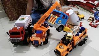 Xe cẩu, xe bồn, xe đổ rác, xe cứu hỏa # xe đồ chơi trẻ em # car toy # Children's toy car
