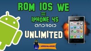 Review ROM IOS We | Similar a IPHONE 4(cuatro) | LG® Optimus L3