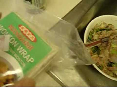 How to make Healthy Asian Chinese food Wonton soup