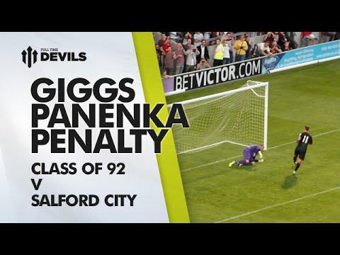 Ryan Giggs Panenka Penalty!   Class of 92 v Salford City   Manchester United