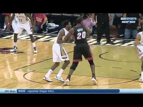 Greg Oden dunk Heat-Pelicans Preaseaon