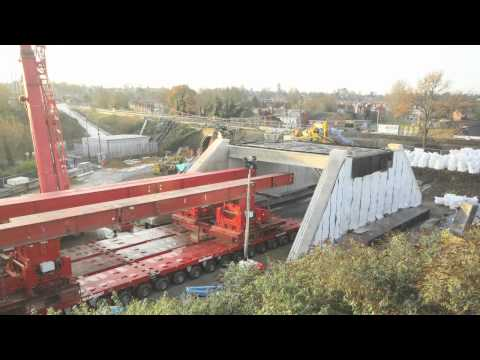 Time Lapse - Rail Bridge Replacement, Cow Lane, Reading