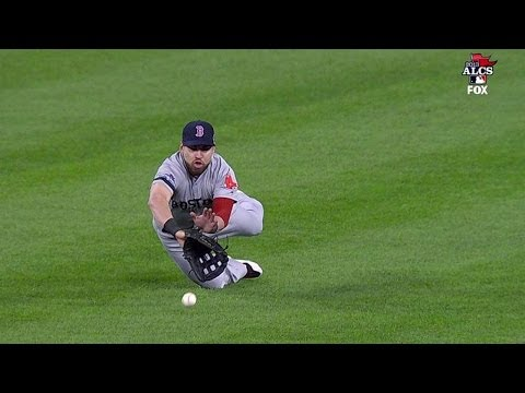 10/17/13: Jacoby Ellsbury doesn't realize the ball is in his glove after a great effort in center field Check out http://MLB.com/video for more! About MLB.com: About MLB.com: Baseball Commissione...