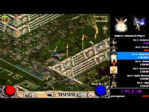 Diablo II Hardcore Real-Time Speedrun 2:43:29