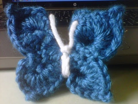 How to crochet an Easy 3D butterfly / NOT flat, 3D