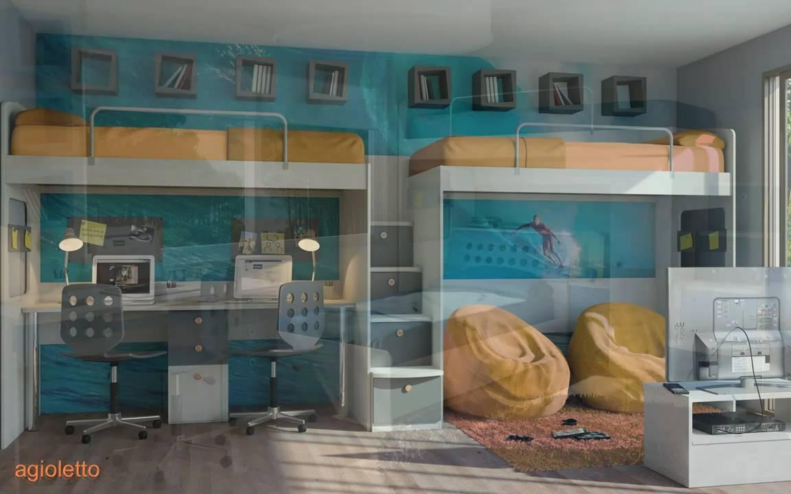 Muebles infantiles y juveniles agioletto youtube - Camas de ninos originales ...