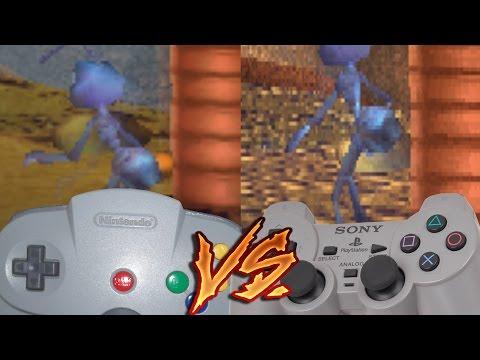 Nintendo 64 Vs PlayStation - A Bug's Life