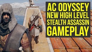 Assassin's Creed Odyssey Gameplay HIGH LEVEL STEALTH With Hood Outfit & More! (AC Odyssey Gameplay)
