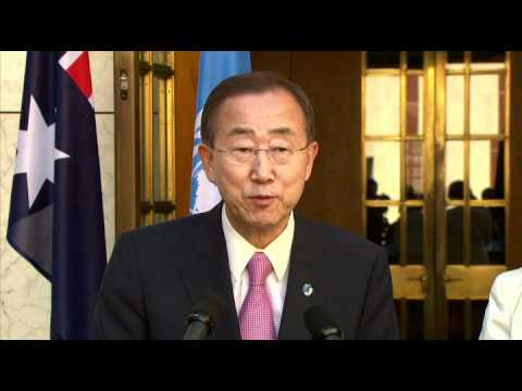 Press Conference: Julia Gillard with Ban Ki-Moon United Nations Secretary-General