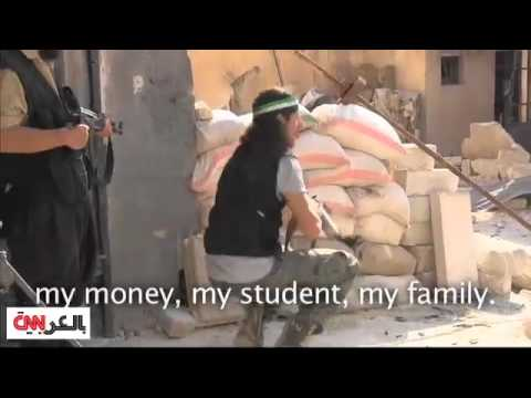 image vidéo ثوار ليبيون يقاتلون من أجل سوريا