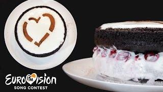 Шоколадный торт «Евровидение» | Как сделать шоколадный торт с вишней -- Голодный Мужчина, Выпуск 89