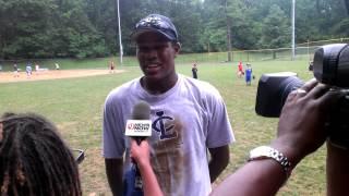 Derrick DJ Sylve (Willie Stargell's grandson) interviewed by Channel 9 Chad Cordero Big Train Camp