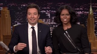 Michelle Obama SURPRISES Fans While They Record Farewell Messages To Her On Fallon