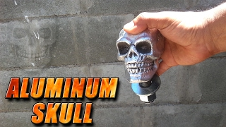 Molten Aluminum Lost Foam Casting A Skull and Making Truck Ball Hitch