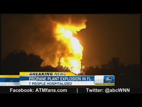 Large Explosions Rock Florida Propane Plant