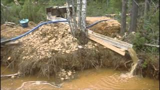 Recreational gold digging at Tankavaara, Finland