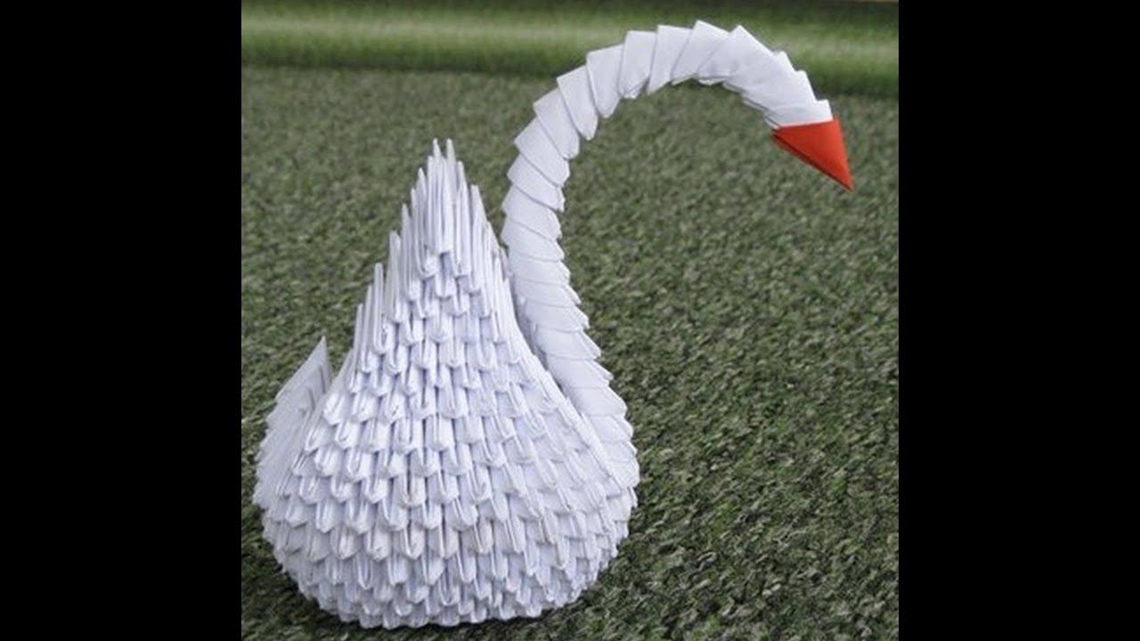 Поделки из модулей оригами для начинающих лебедь