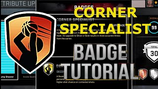 Nba 2k16 badge tutorial-  How to get corner specialist badge fast on nba 2k16