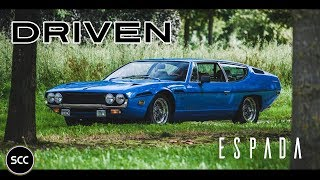 LAMBORGHINI 400 GT ESPADA 1972 - Full test drive in top gear - V12 Engine sound | SCC TV