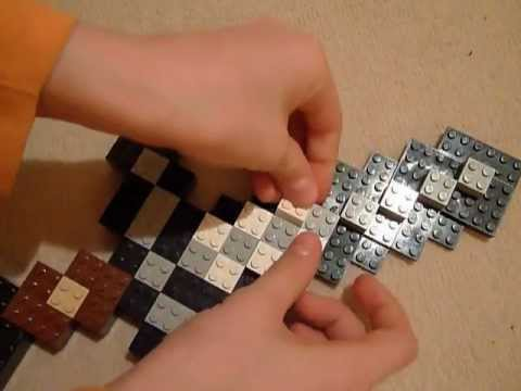 Lego Minecraft Iron Sword Tutorial