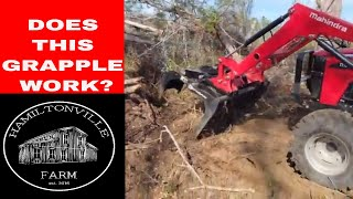 Clearing land with Mahindra tractor (4540 4wd)