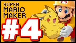 EPIC POKEMON LEVEL! - Super Mario Maker - Super Mario Maker Create Gameplay Walkthrough Part 4