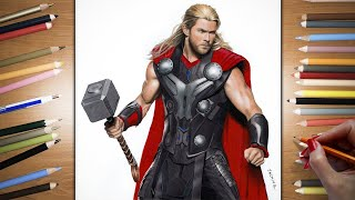 Speed Drawing: Chris Hemsworth as Thor | Jasmina Susak