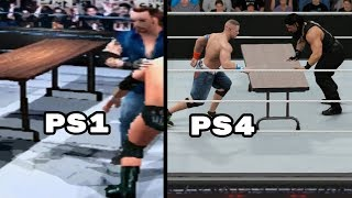 The Evolution Of Table Matches In WWE Games