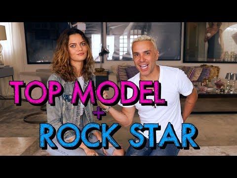 Top Model namorando Rock Star   #HottelMazzafera