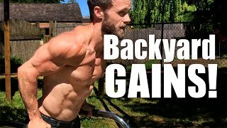 Backyard Set-Up & Workout | Powerful Vegan Calisthenics