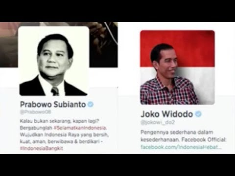 Indonesia presidential elections extends to Twitter, Facebook