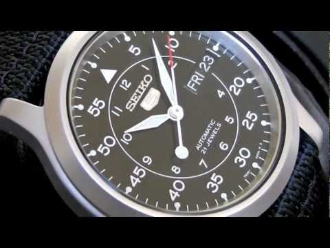 2S Time : SEIKO 5 Automatic Military Watch SNK809K2 Black Hawk