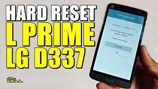 Hard Reset no LG L Prime (D337) #UTICell