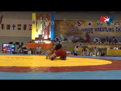 2012 Junior Worlds - FW 72kg - Julia Salata (USA) vs. Elmira Syzdykova (KAZ)