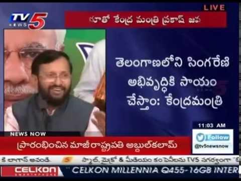 BJP Making Many Promises in TS | Prakash Javadekar Gies Answers :  TV5 News