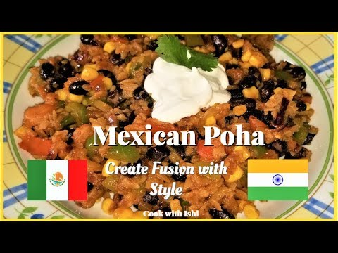 Mexican Poha | Mix Vegetable Poha mexican style | Mexican Indian Fusion recipe by cook with Ishi