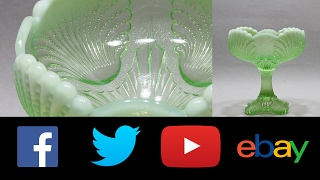 Green opalescent Vaseline glass