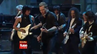 JEFF BECK, JIMMY PAGE, RON WOOD, JOE PERRY & METALLICA - Train Kept A Rollin