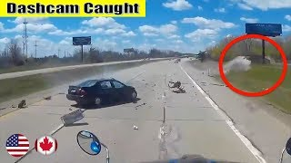 Ultimate North American Car Driving Fails Compilation: The One Where Semi Sideswiped