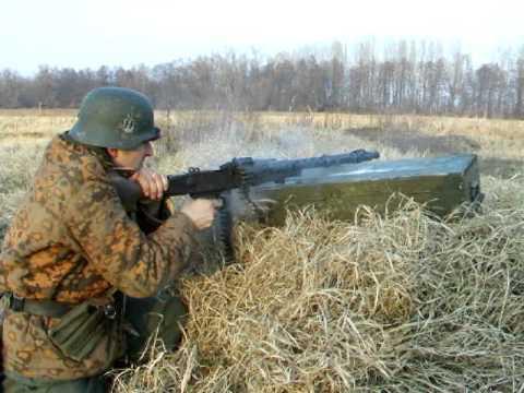 Blank firing (testing) German MG34 replica for WW2 RE-ENACTMENT - Full Auto