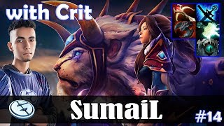 SumaiL - Mirana MID | with Crit (SK) | vs s4 (Omniknight) | Dota 2 Pro MMR Gameplay #14