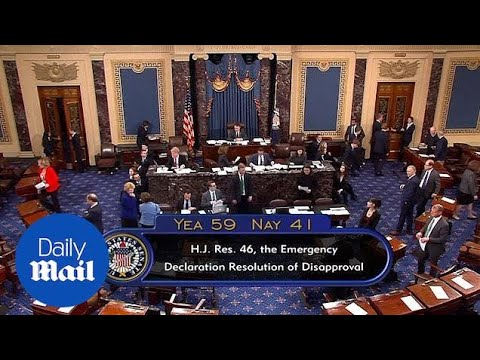 Senate votes 59-41 to repeal Trump's declaration of an emergency