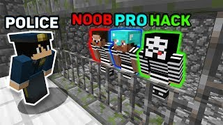 Minecraft NOOB vs PRO vs HACKER vs POLICE : HOW TO ESCAPE FROM PRISON? MINECRAFT ANIMATION