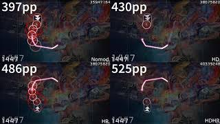 Ata - Euphoria [Ultimate Power] | nomod vs HD vs HR vs HDHR