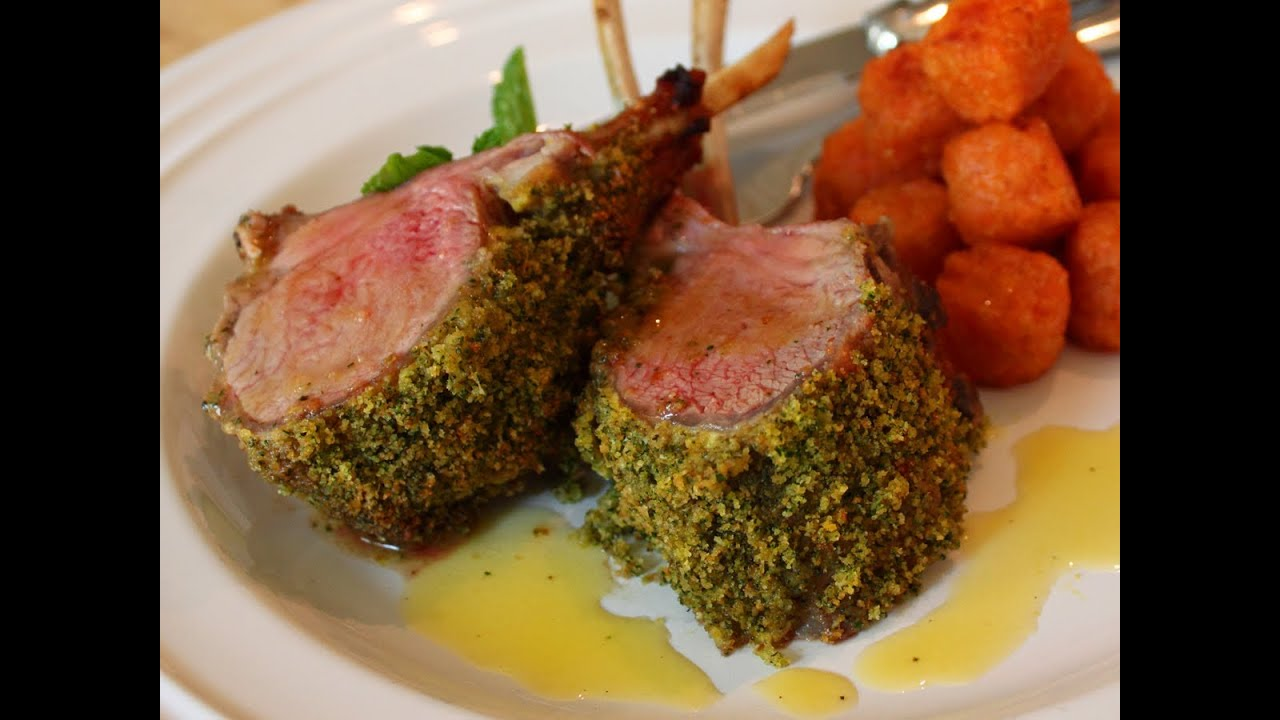 Mint Crusted Rack Of Lamb Recipe Easter Special Mint