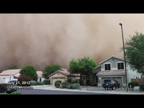 Phoenix Dust Storm 2012 Monsoon Phoenix, Arizona July 21, 2012 Haboob Dust Sand Storm Gilbert, AZ